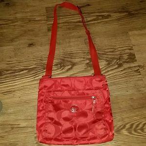 Coach Cross body Red Bag